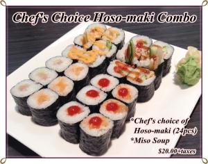Chef's choice Hoso-maki Combo
